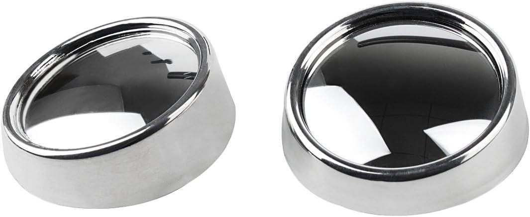 Andux Land Blind Spot Mirror HD Glass Convex Wide Angle Rear View Car Stick On Lens 2 Pack QC-MDJ-01 Fan Shape