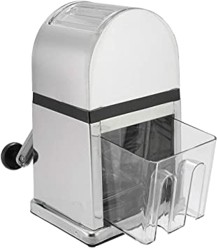 Triturador de hielo, máquina de triturador de hielo manual portátil para uso en casa, cocina, restaurante, plateado: Amazon.es: Bricolaje y herramientas