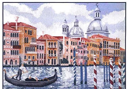 Italian Canoe Cross Stitch Kits,egyptian Cotton,14ct,54x45 Cm 238x195 Stitch Counted Cross Stitch Kit