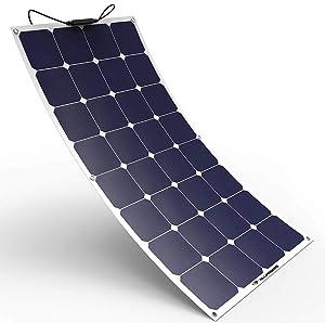 Image of a flexible 100 Watt ALLPOWERS solar panel