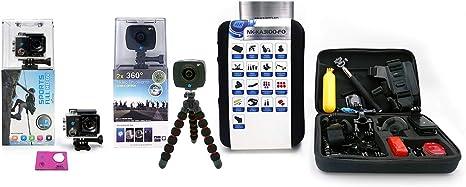Pack 3 - NK-AC3056-FDR Cámara acción Alta definición FHD 1080P (Color) + NK AC3091-36D: Amazon.es: Electrónica