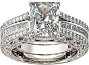 Beauty 2 in 1 Chic Luxurious Zirconia Rings Women Men Diamond Insert Business Ring Accessories Wedding Engagement Jewelry Gi