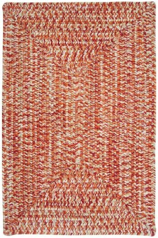 Catalina Polypropylene Braided Rug, 2-Feet by 12-Feet, Fireball