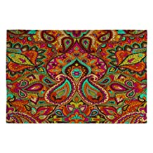 DENY Designs Aimee St.Hill Paisley Orange Woven Rug, 4 by 6-Feet