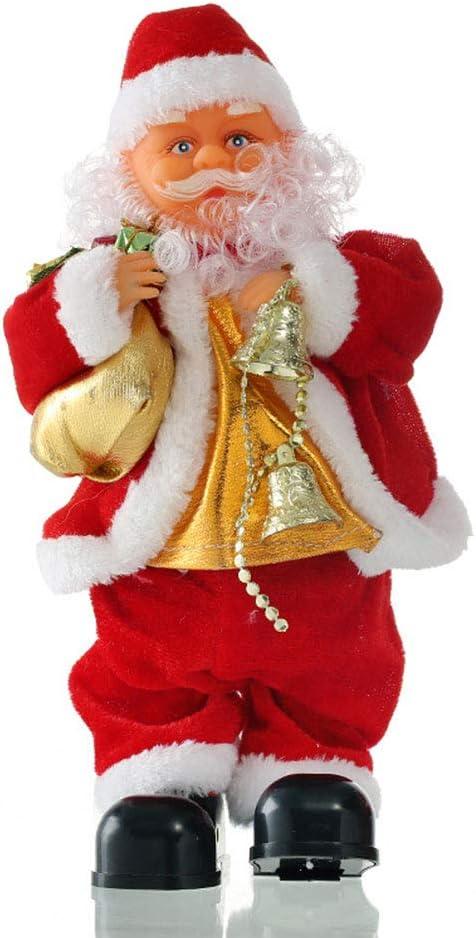 LINAG Musical Papá Noel Decoración para Navidad, Papá Noel Tocando ...