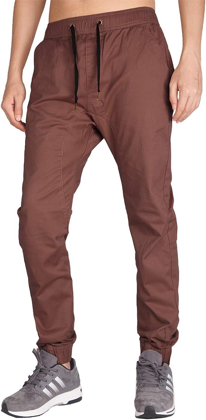 ITALY MORN Pantalón Jogger Slim Fit para Hombre Casual Chino Jogging Algodón