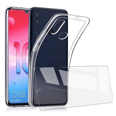 7bde6e7a297e0 AILRINNI Coque pour Huawei P Smart 2019/ Honor 10 Lite + Verre Trempé  Protection écran