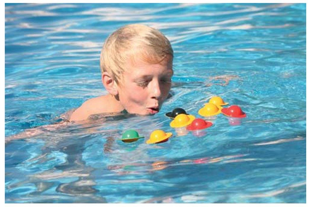Kids Swimming Pool Learn To Swim Aqua Fun Diving Floating Egg Flip Toy Pk Of 10 by Sportsgear US