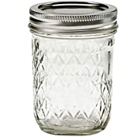 Ball Mason Quilted Glass Jar (240ml) 8oz - (Packaged Plastic Free & Fully Bio-Degradable)