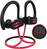 Wireless Headphones Bluetooth, Up to 9 Hrs Playing Time Mpow IPX7 Waterproof Running Headphones In-ear Earbuds for Gym Cycling Workout iPhone,iPad,Samsung, Siri with Built-in Noise Cancelling Mic