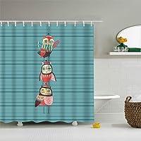 Worthtrust Art Fabric Bathroom Shower Curtain Decor