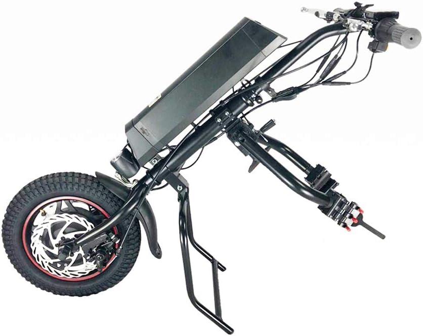 GMtes Accesorio eléctrico Triciclo Silla de Ruedas, Terapia de rehabilitación eléctrica Kit de conversión de Ruedas,10.4Ah