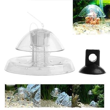 Trampa de caracoles para acuario o pecera, diseño de hojas planas