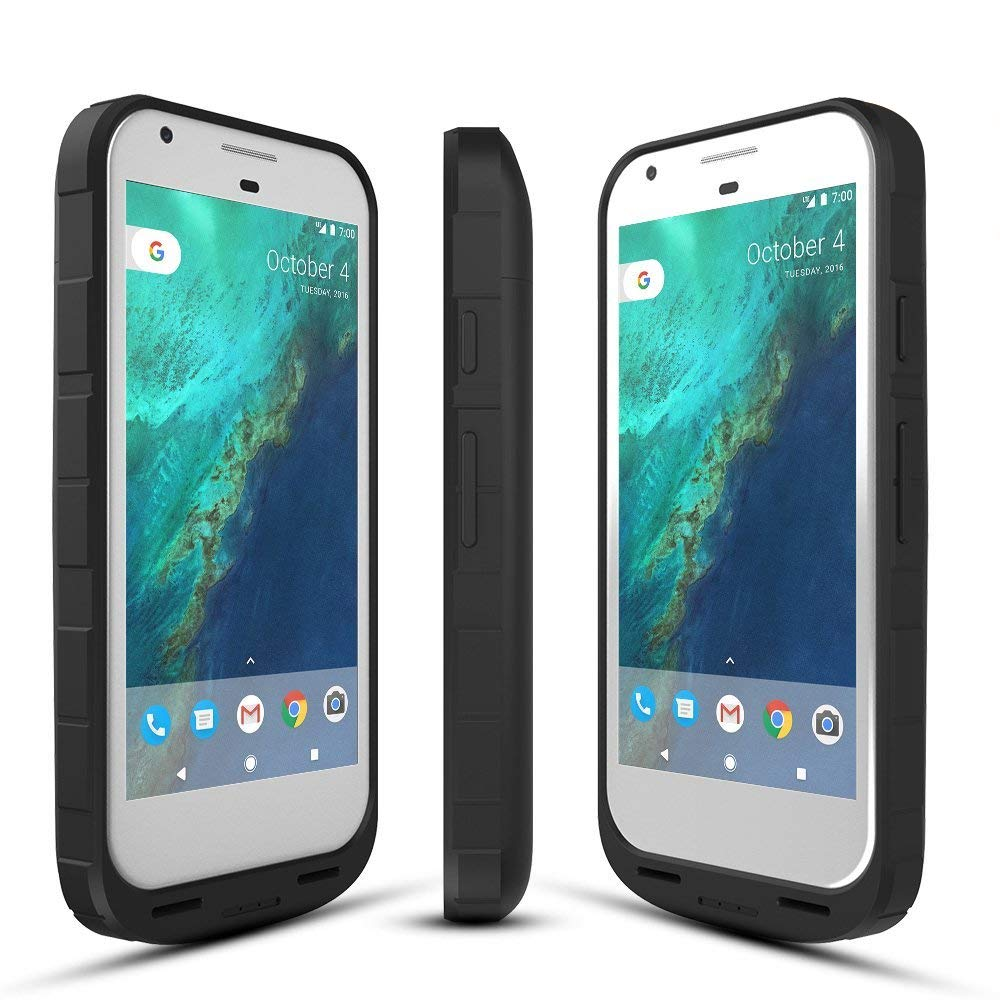 ICONIC Google Pixel 1 Battery Case 2016, 4000mAh Pixel Charger Charging Case External Protective Battery Pack for Google Pixel 1st Gen (5 inch Black)