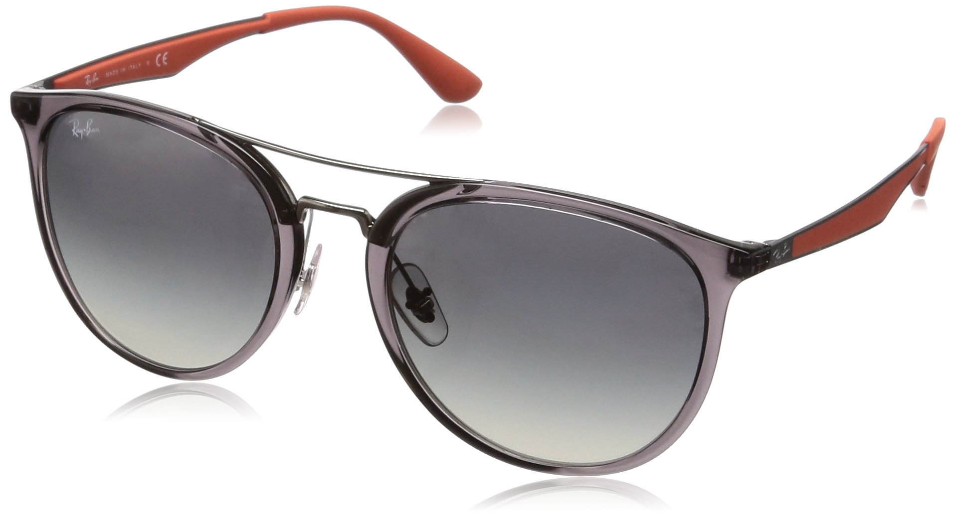 Ray-Ban RB4285 Square Sunglasses, Transparent Grey/Grey Gradient, 55 mm