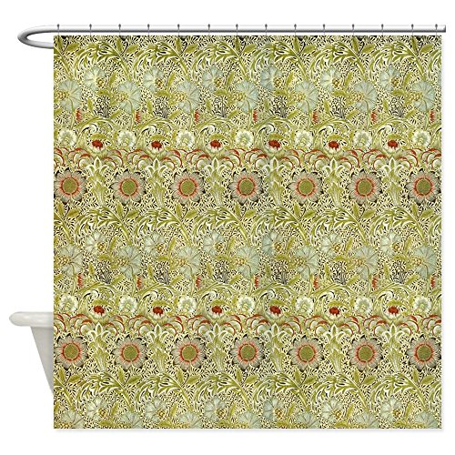 William Morris Iron (CafePress - Corncockle Design By William Morris - Decorative Fabric Shower Curtain)