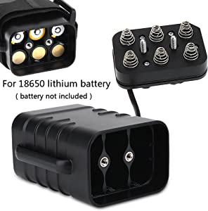 18650 Battery Charger 2/4/6 Bay Universal Smart Battery Charger Waterproof Battery Pack Case Box for 6x18650 Rechargeable Batteries Bicycle Lamp Smartphone