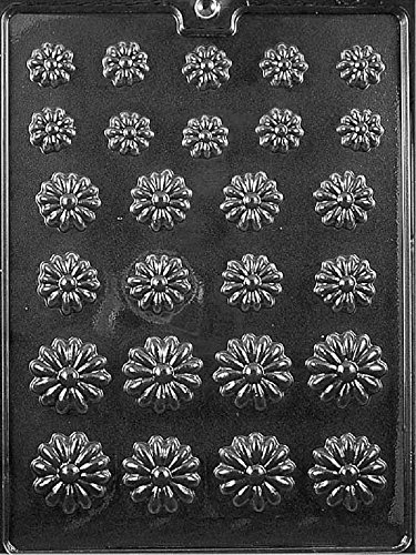 Grandmama's Goodies F106 Daisy Assortment Chocolate Candy Soap Mold with Exclusive Molding Instructions -