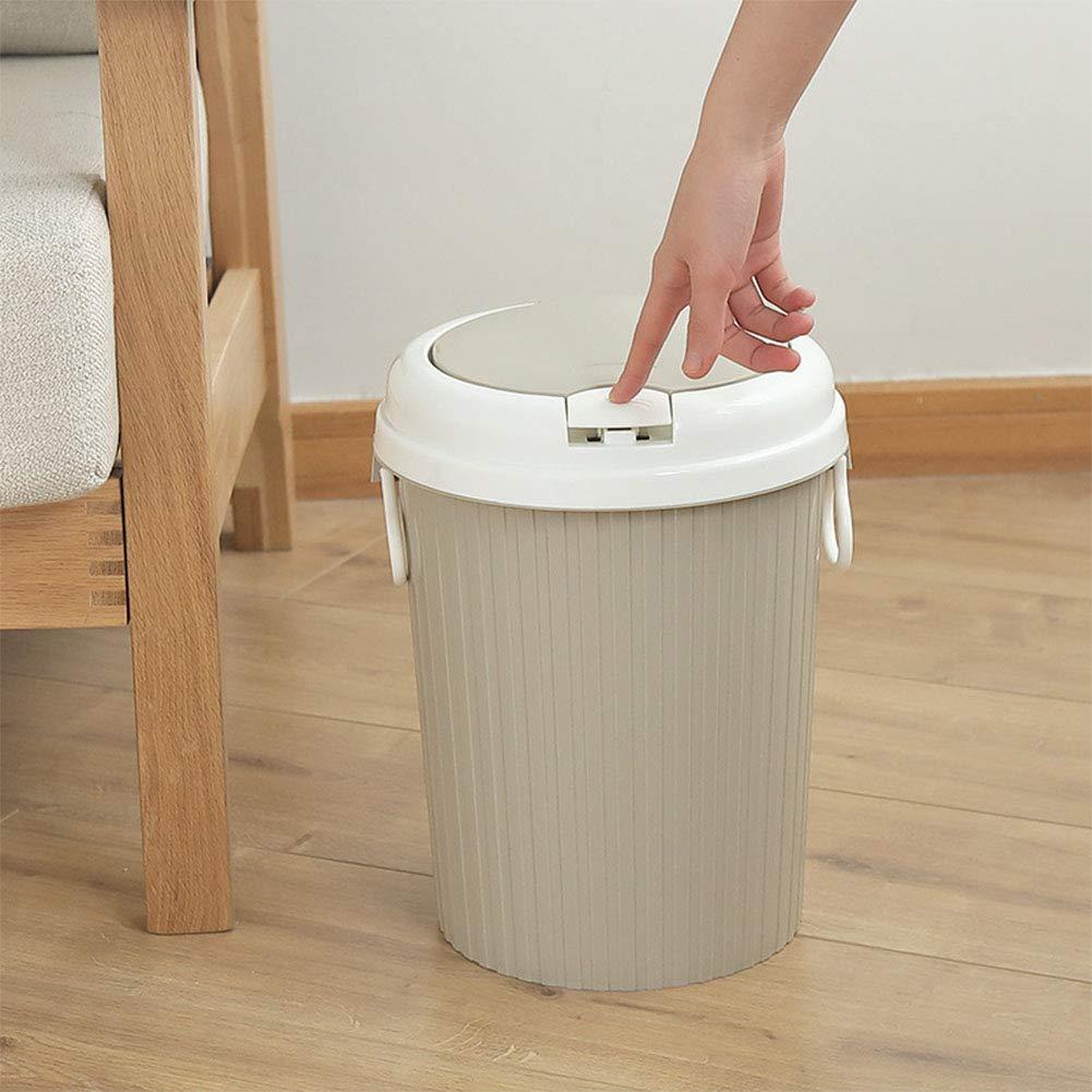 ba/ño Elegantamazing Cocina Papelera port/átil con Tapa basculante para el hogar cesto de residuos
