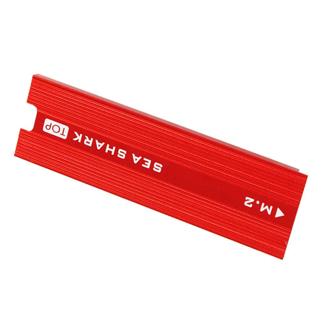 Homyl Disipador de Aluminio y Almohadilla t/érmica Adapter Card con Disipador de Calor de PCIe NVMe M.2 NGFF SSD