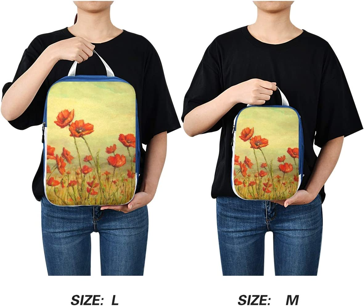 t Oil Painting Flowers 3 Set Packing Cubes,2 Various Sizes Travel Luggage Packing Organizers