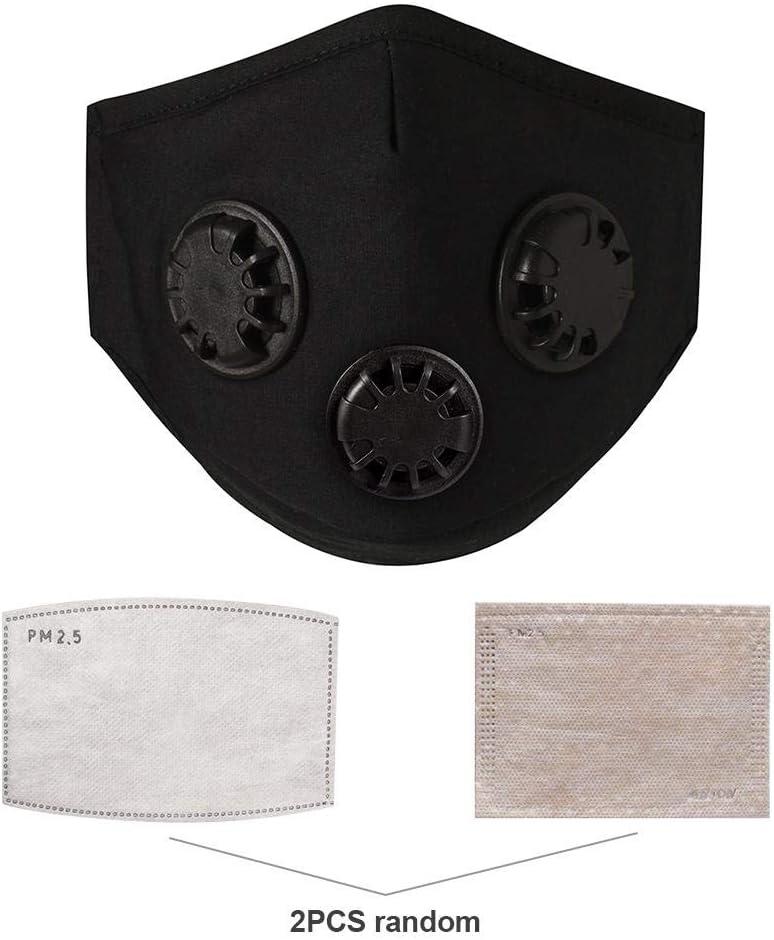 SNIIA Máscara Antipolvo con Filtro de válvula de exhalación 3, máscara de Polvo de Boca Reutilizable Máscara Antiarrugas con Papel de Filtro de 2 Piezas para Correr Appealing