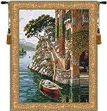 Lake Como Belgian Wall Art Tapestry