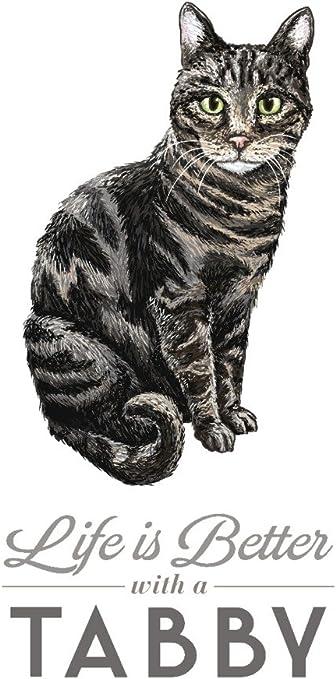 Amazon Com Tabby Cat Life Is Better 79216 12x18 Signed Print Master Art Print Wall Decor Poster Wall Art