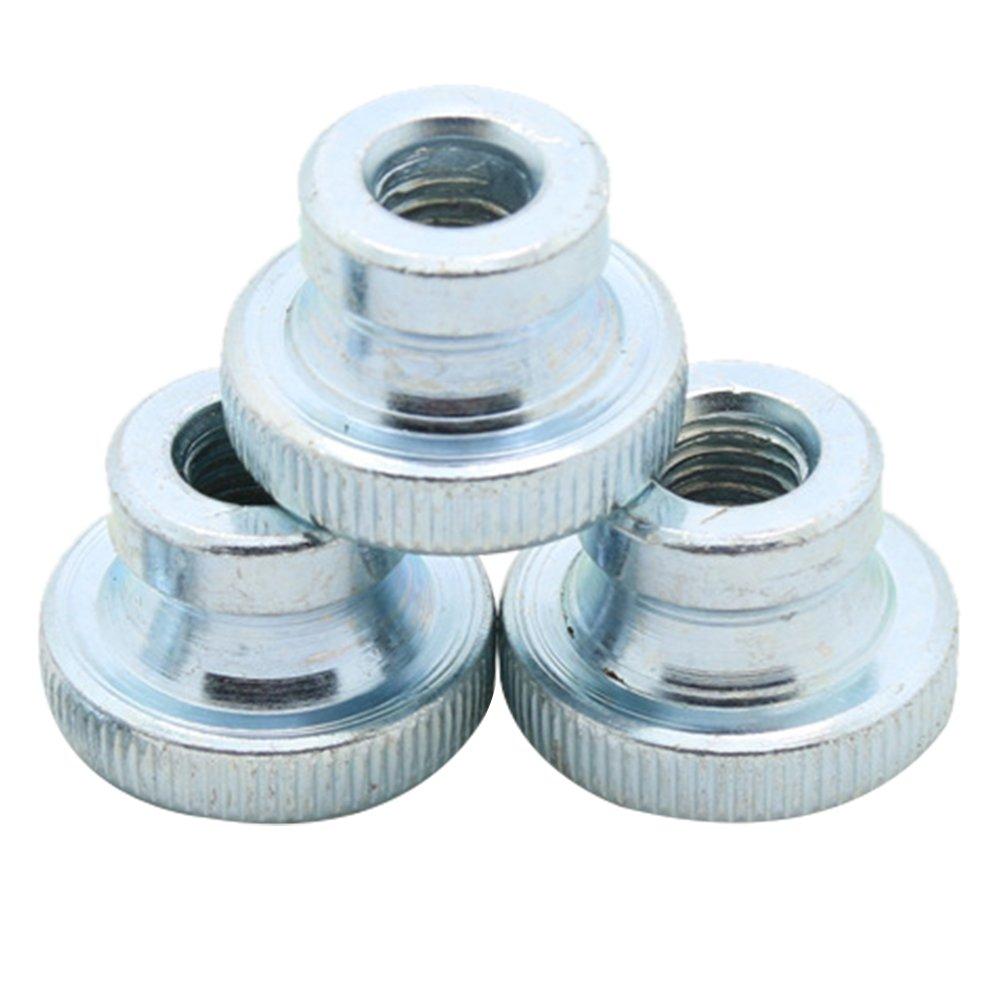Souarts Round Knurled Thumb Nuts M3/M4/M5/M6 Carbon Steel Knurled Thumb Nuts 10 Pcs