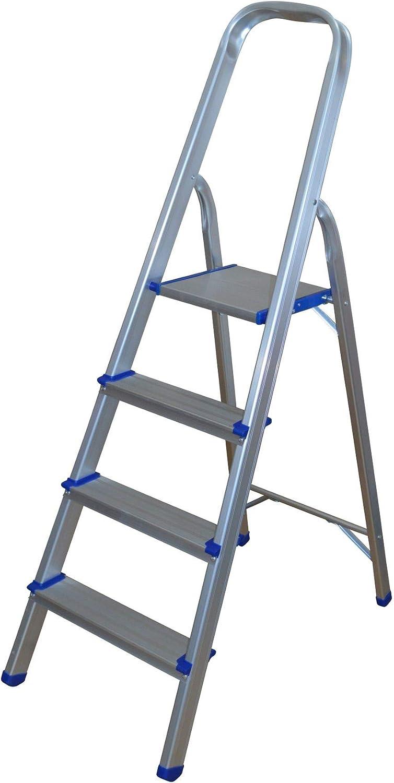 Escalera de aluminio con 4 peldaños.: Amazon.es: Bricolaje y herramientas