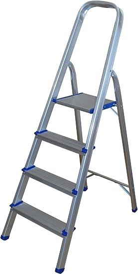 Escalera de aluminio con 4 peldaños.: Amazon.es: Bricolaje y ...