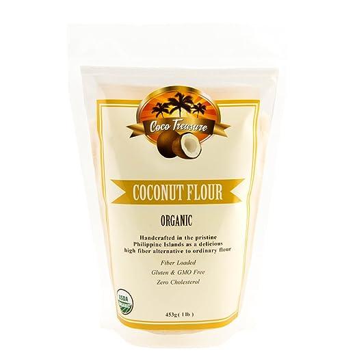 Amazon.com : Coco Treasure Bakers Deluxe Box with Organic Extra Virgin Coconut Oil - 16 Fluid Ounce, Organic Coconut Flour - 1 Pound, and Organic Coconut ...