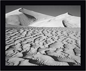 """CA, Death Valley NP Eureka Sand Dunes by Dennis Flaherty 23"""" x 28"""" Black Framed Canvas Giclee Art Print - Ready to Hang"""