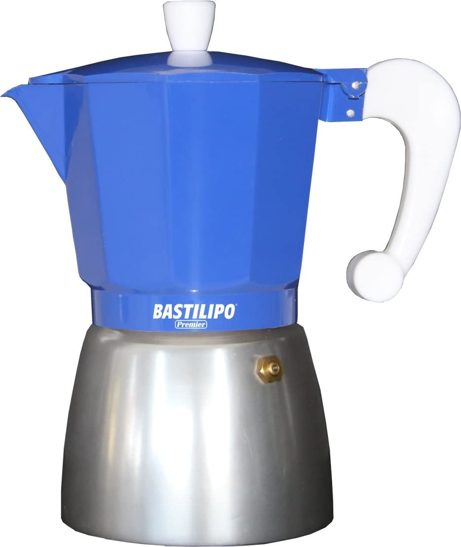 Bastilipo Colori-9 Cafetera, Aluminio, Azul Eléctrico