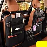 2 Pack PU Leather Premium Car SeatBack Organizer Travel Accessories Car Seat Back Organizer Seat Protector Kick mats…