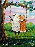 Cheap Caroline's Treasures 7439GF Corgi with Sheep Love Grows Garden Flag, Small, Multicolor