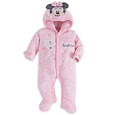 818f916d5 Amazon.com: Minnie Mouse Hooded Romper for Baby: Clothing