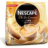 """Nescaf Ipoh White Coffee ORIGINAL (15 Sachets) - """"Oh So Creamy"""" ★ Premix Instant Coffee ★ Deliciously Milky, Creamy and Aromatic Coffee with a Rich Layer of Foam ★ Just Mix with Water, No Need of Sugar an"""