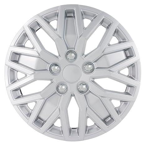 AutoStyle kt1051 – Juego de fundas para ruedas de 16 años/L, plata,