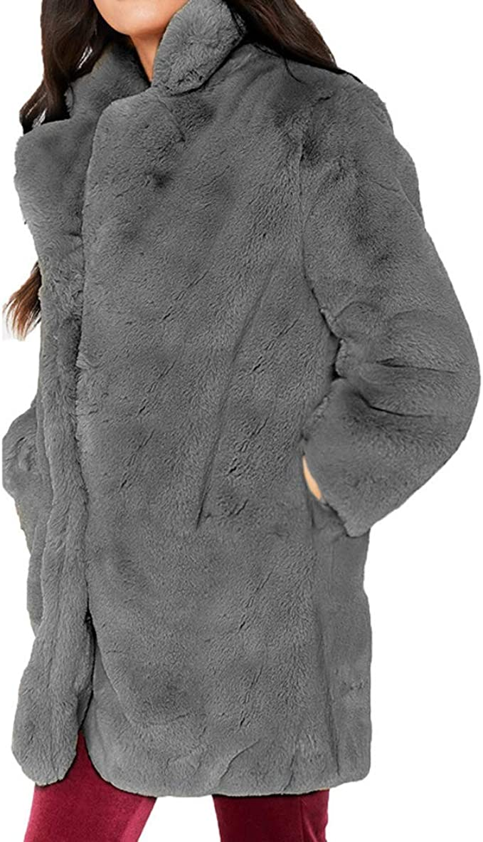 Femmes de Peluche en JLTPH Fausse d'hiver Manteaux Veste AjRL354