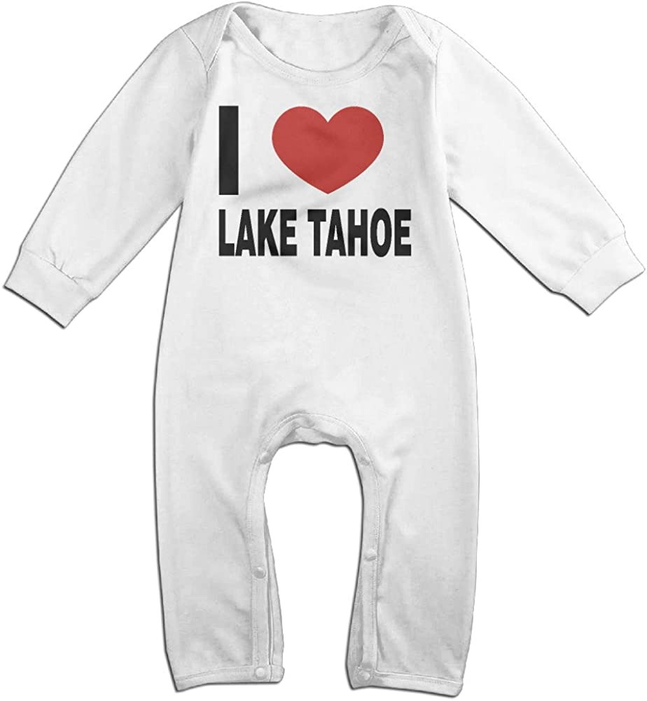 I Love Lake Tahoe Baby Onesie Bodysuit Newborn Romper