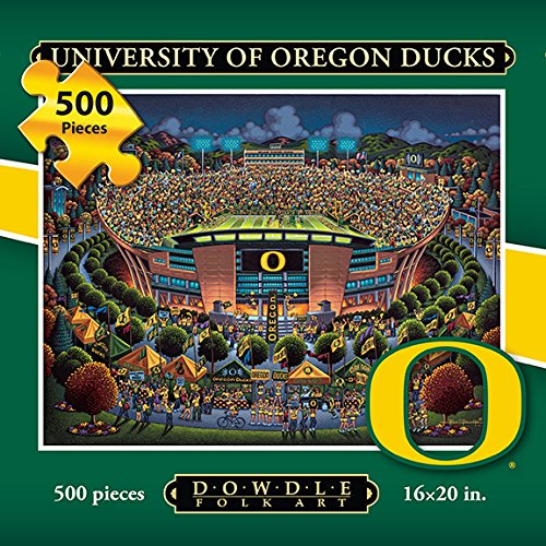 Jigsaw Puzzle - University of Oregon Ducks-U of O-500 Pc By Dowdle Folk Art