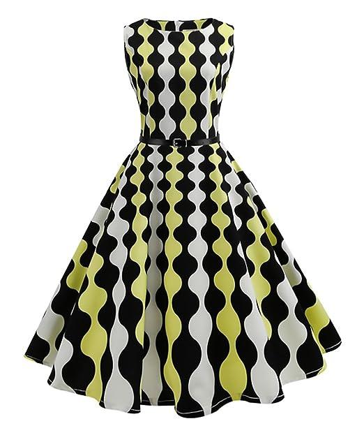 Abendkleider Damen Rockabilly Kleid 50Er Jahre Vintage Hepburn Stil ...