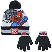 Cerdá - Conjunto Gorro y Guantes de Spiderman - Licencia Oficial Marvel, gris, talla única, 2200005852
