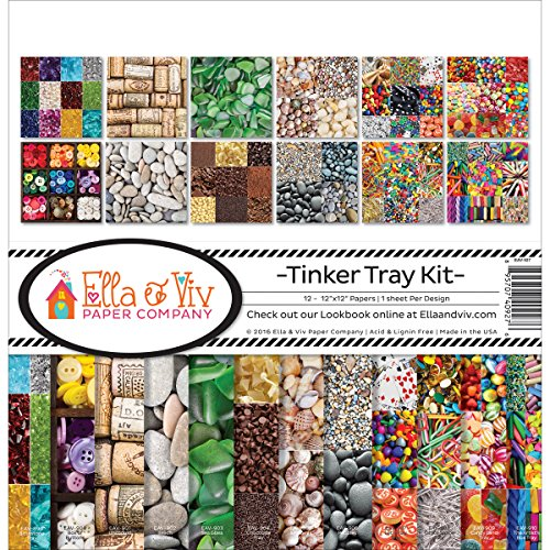 Ella & Viv by Reminisce EAV-927 Ella & Viv Tinker Tray Scrapbook Collection Kit