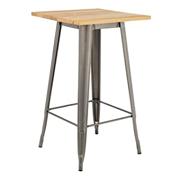 nouvelle arrivee 3441d d67a1 SKLUM Table Haute LIX Brossée en Bois - (Plus de Couleurs ...