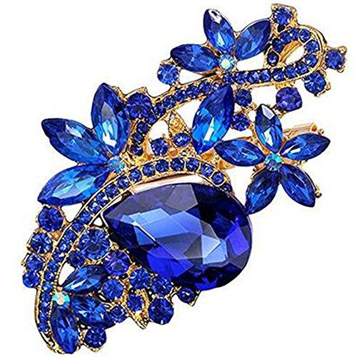 Bai You Mei Womens Vintage Brooches and Pins Fashion Fancy Circle Flower Design Crystal Rhinestone Brooch