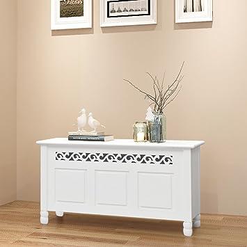 Festnight White Storage Bench Shoe Cabinet Mdf Hallway Furniture