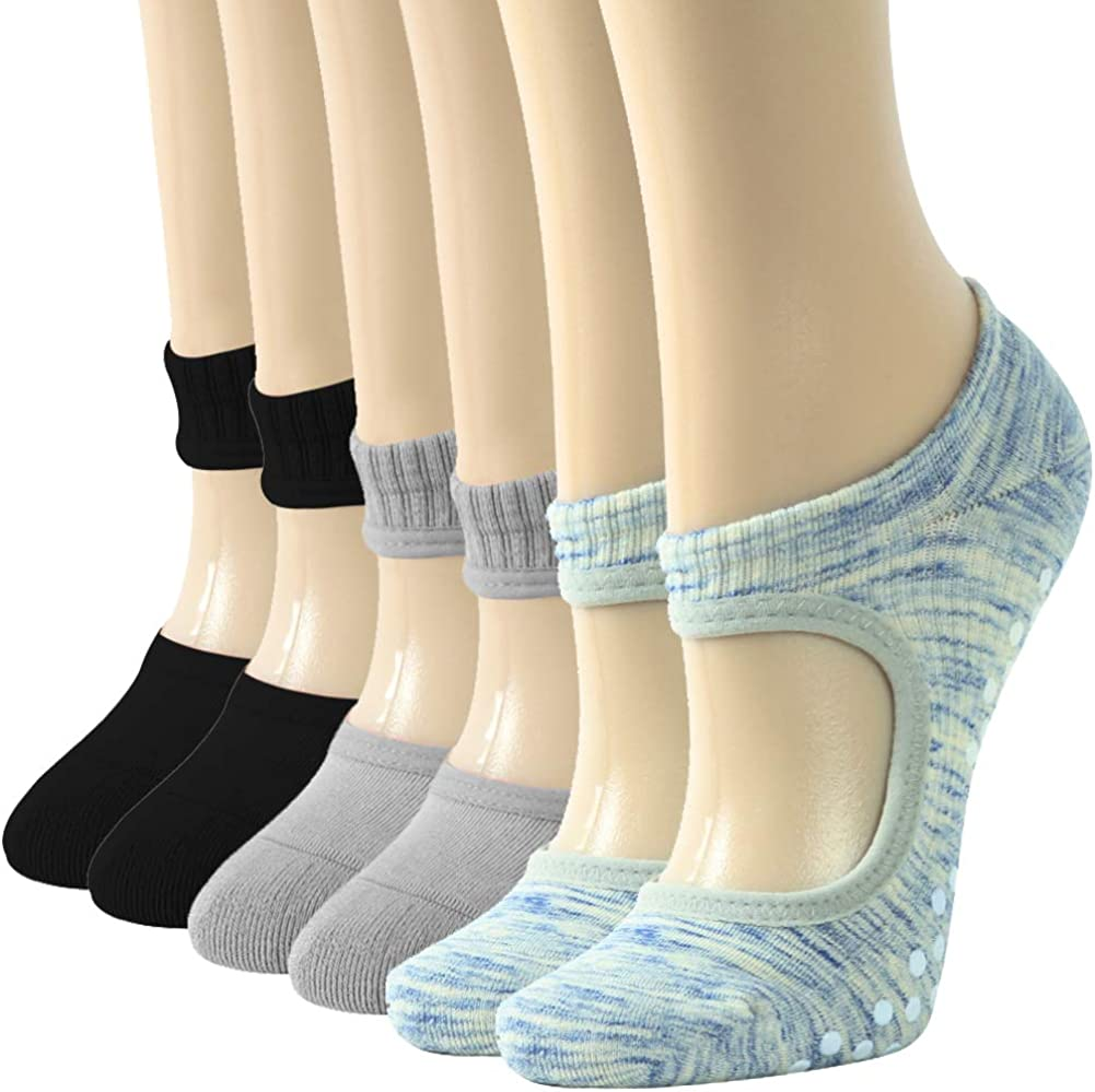 Yoga Socks for Women, Gmark with Grips for Pilates, Pure Barre, Barefoot Workout