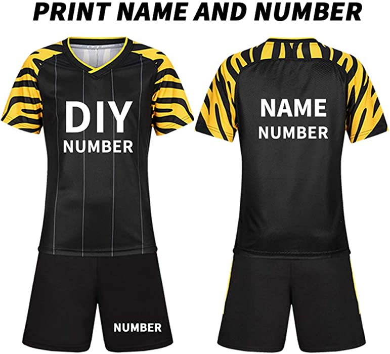 cd1009074b27 Custom Kids Soccer Jerseys Set Team Training Uniform Set Polyester  Sportswear Customize DIY (4XS